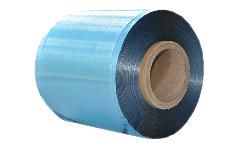 односторонняя алюминиевая лента из ПЭТ пленки 0,025 мм Перемотка материала катушкой